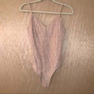 F21 Lace Nude Bodysuit
